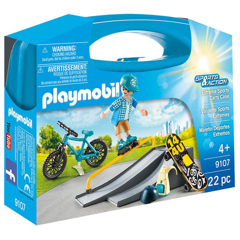 9107 Playmobil Koffertje Extrem sports: skatepark