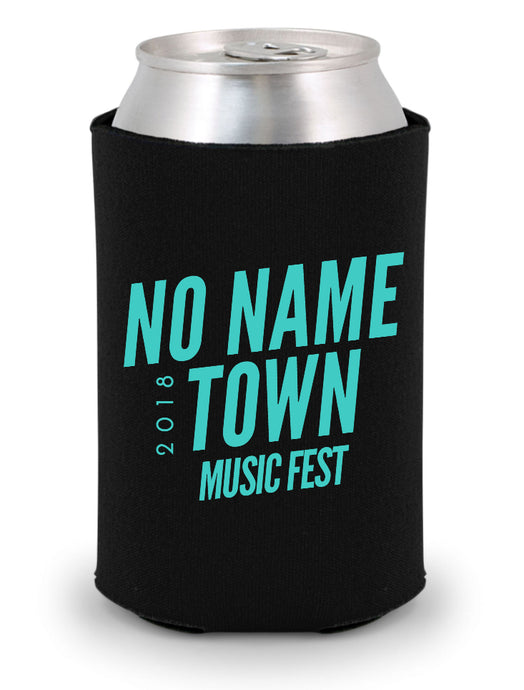 NO NAME TOWN MUSIC FEST Official Black KOOZIE
