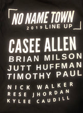 Load image into Gallery viewer, 1/2 OFF SALE NO NAME TOWN MUSIC FEST T-SHIRT Presented by CASEE ALLEN