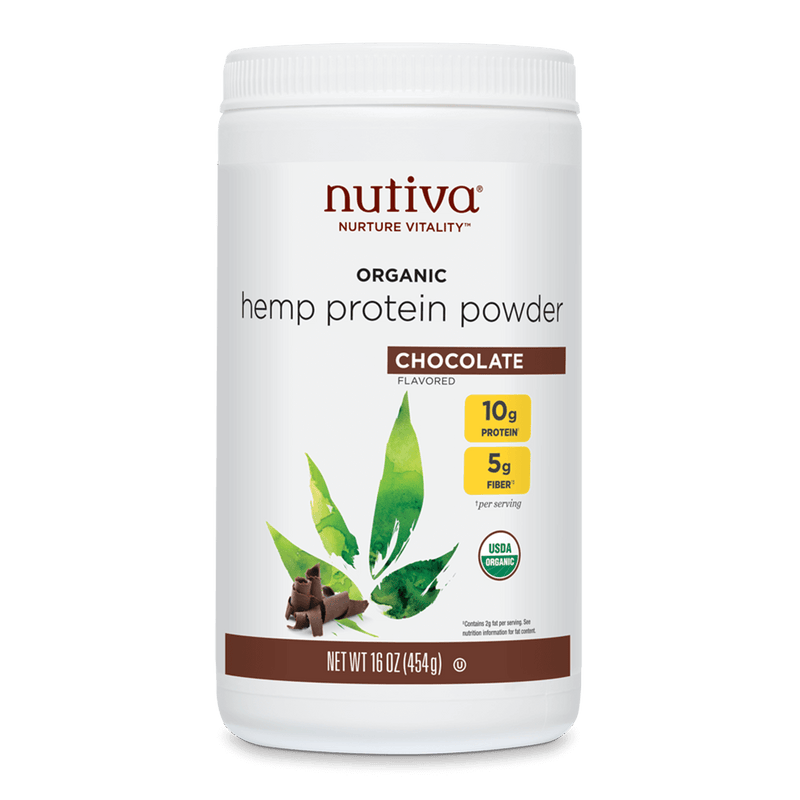 Nutiva Organic Hemp Seed Protein Powder Chocolate 16 oz