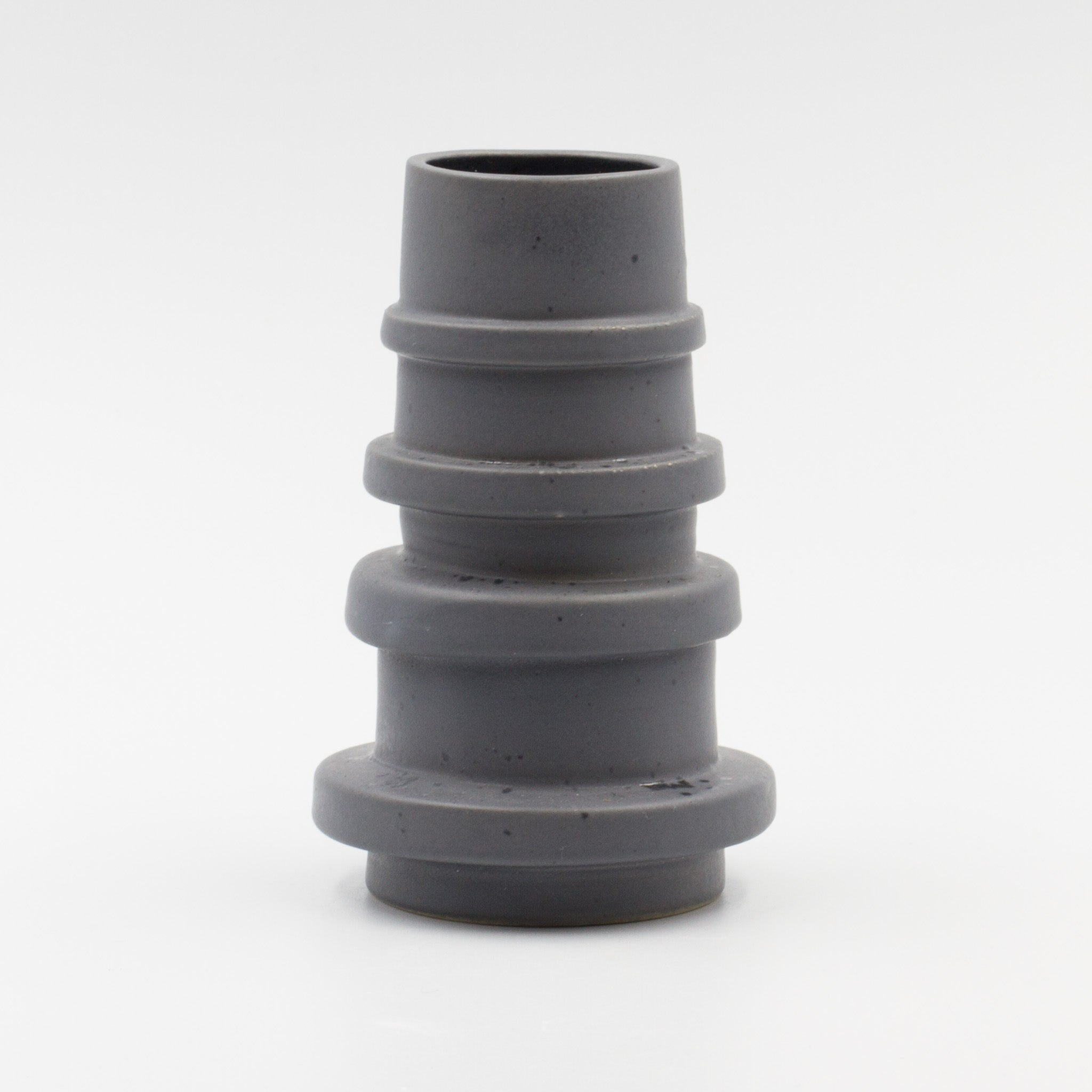 Grey Spindle Vase