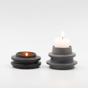 Black Spindle Candle holder