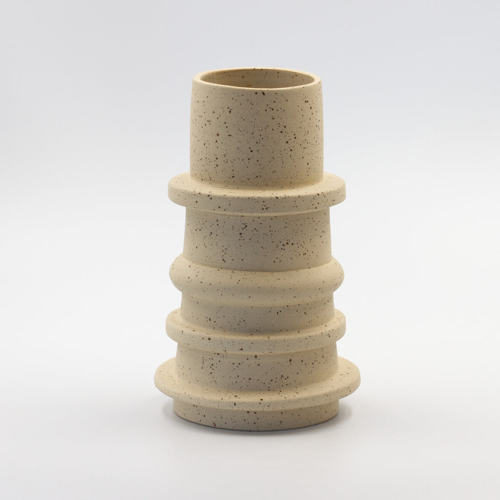 Tall Speckled Spindle Vase