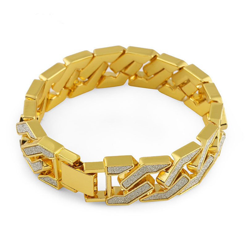 s watch diamond hop hip tone itm icy simulated ebay men out gift bracelet gold cuban iced set