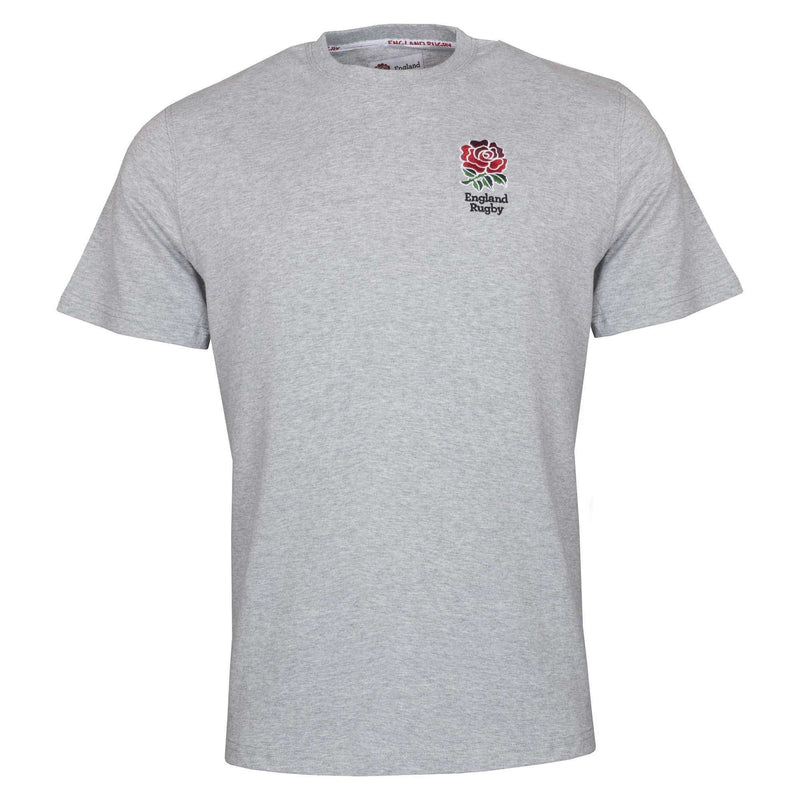 England Rugby 19/20 Small Logo T-Shirt - Grey Marl - Absolute Rugby