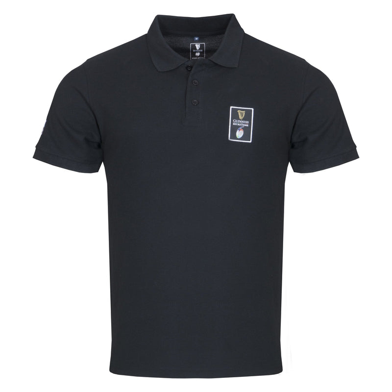 Guinness Six Nations Championship Polo - Black - Absolute Rugby