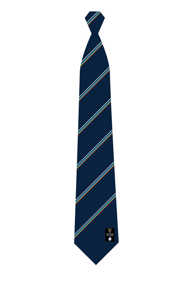 Guinness Six Nations Rugby Stripe Tie - Absolute Rugby