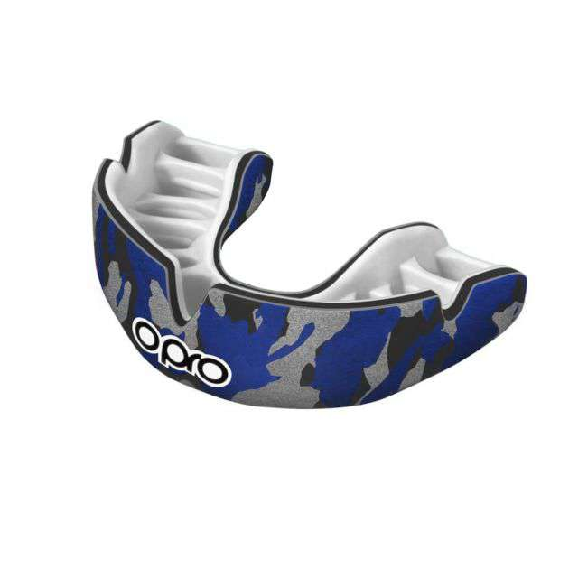 Opro Power-Fit Junior Mouthguard - Blue Camo - Absolute Rugby