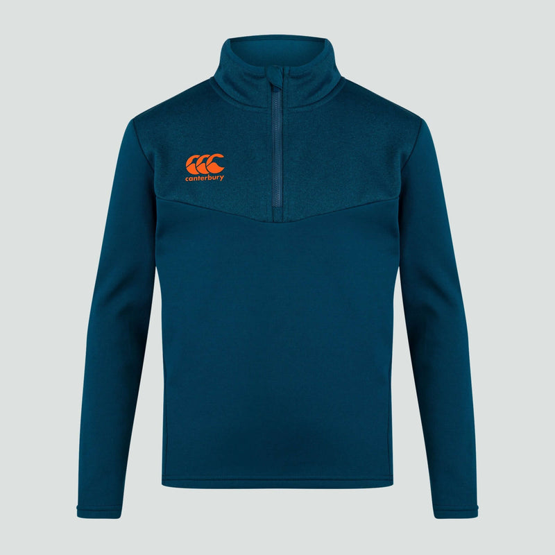 Quarter Zip Fleece Top I Blue - Absolute Rugby