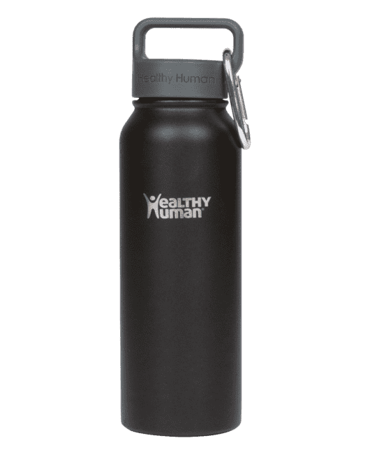 Stainless Steel 21oz / 620ml Stein Bottle-Pure Black - Absolute Rugby