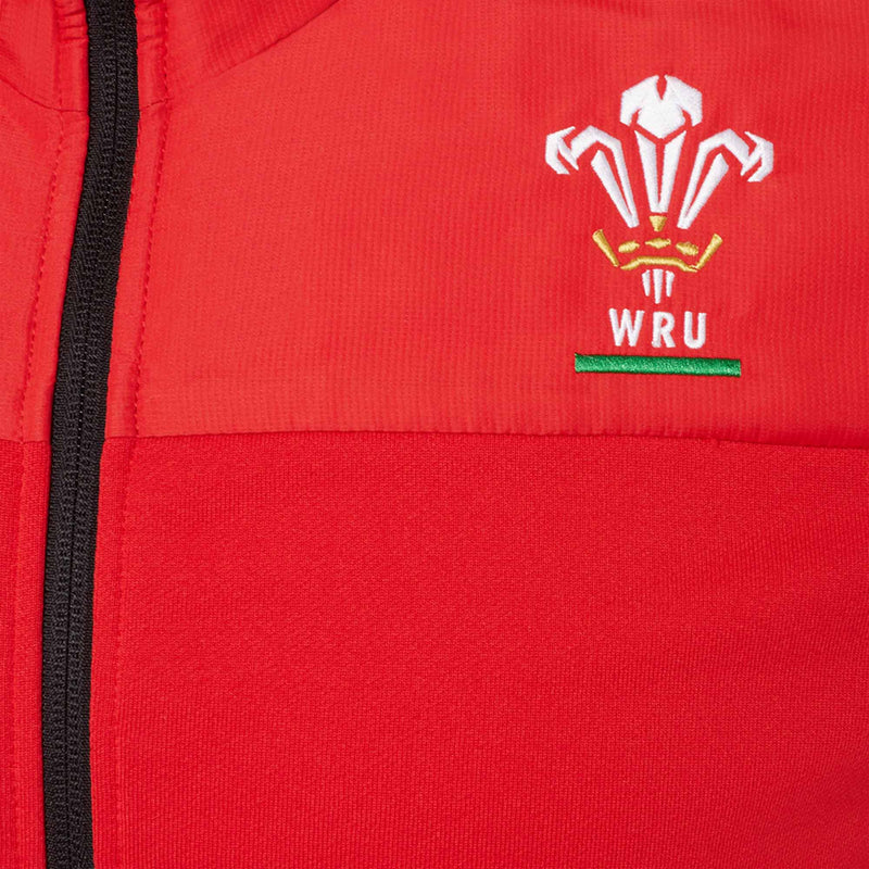 Wales Rugby Full Zip Hoody I Red - 20/21 - Absolute Rugby