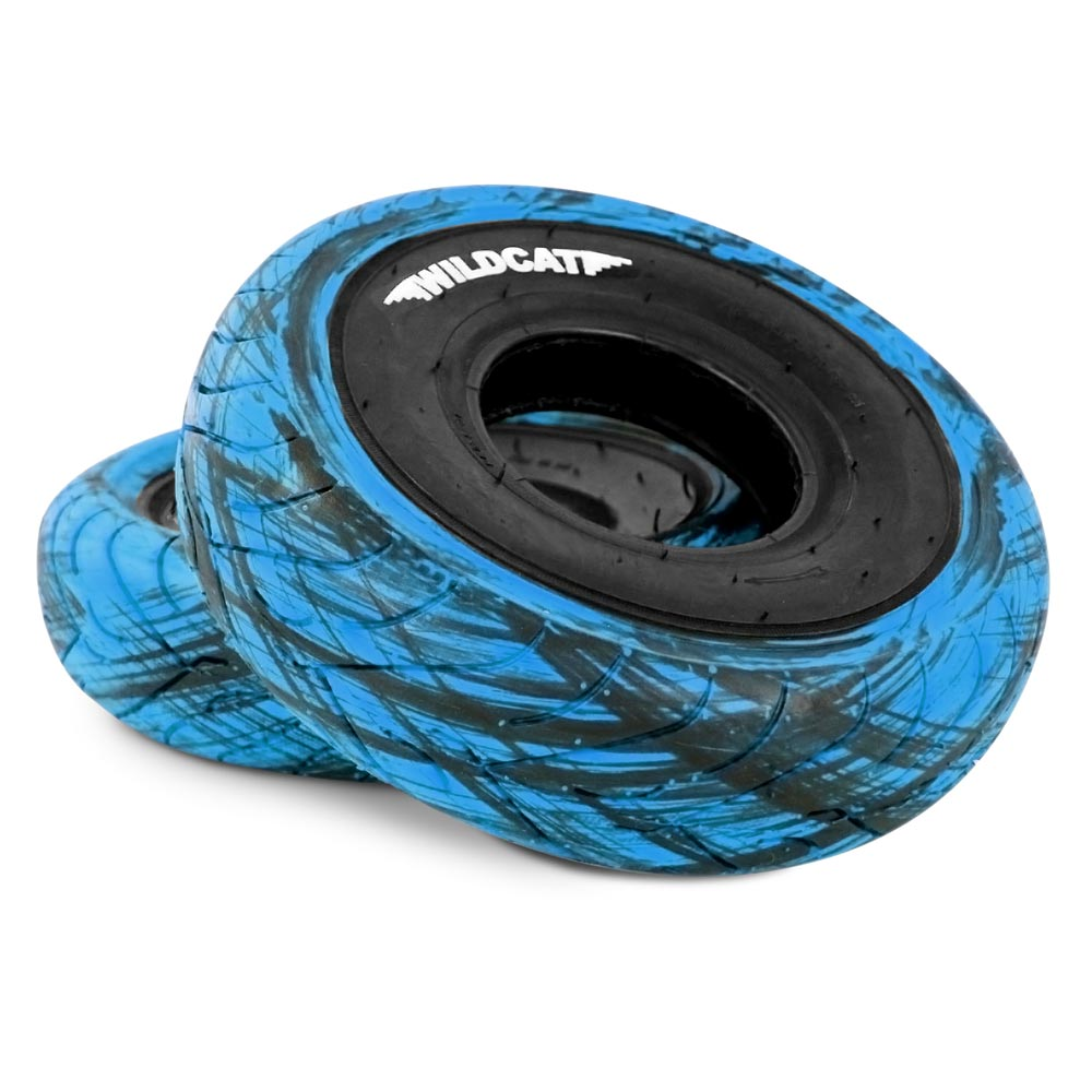Wildcat Mini BMX Tyres Marble BLUE