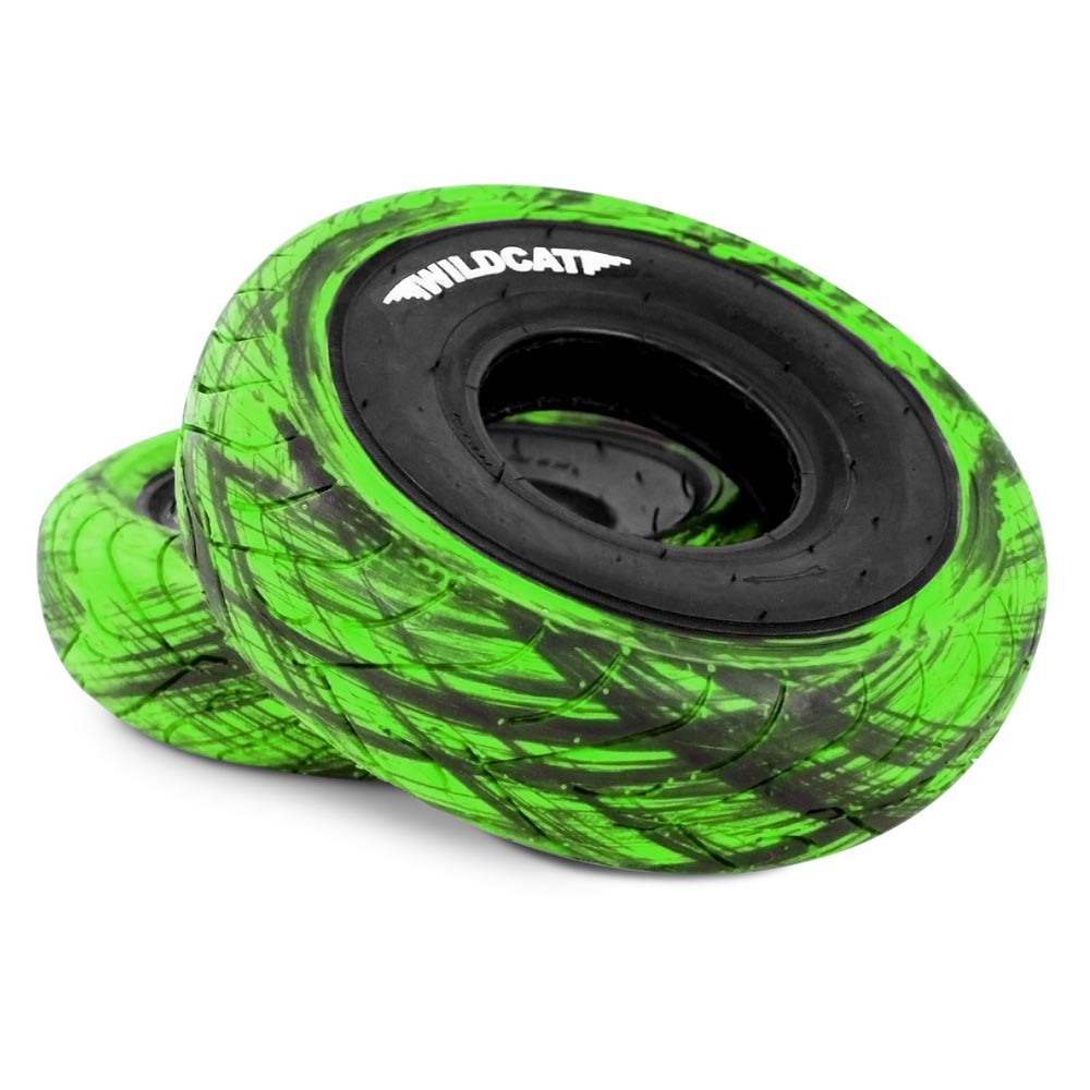 Wildcat Mini BMX Tyres Marble GREEN