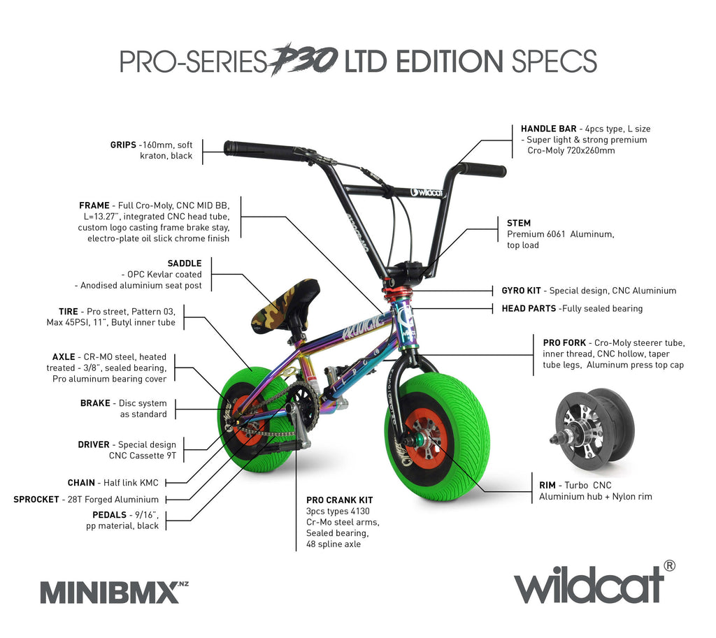 WILDCAT P30 LTD EDITION - FULL CRO-MOLY OIL SLICK