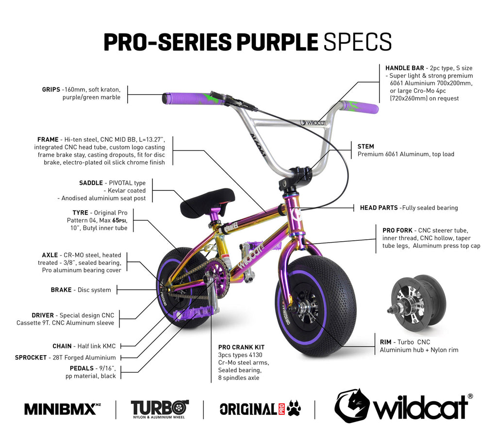 WILDCAT MINI BMX Pro Series PURPLE