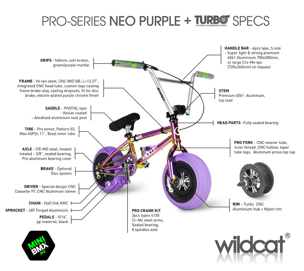 WILDCAT MINI BMX Pro Series - Purple