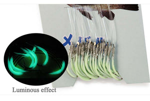 30pcs/pack Luminous Fishing Hook sizes 12,14 and 16