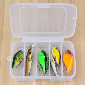 6pc plus Box High Quality Fishing lure Mixed Sizes Fishing (bait 6#-10#)