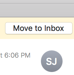move to spam button