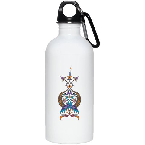 Double Peacock Crest 20 oz. Stainless Steel Water Bottle - shopdiasporina.com