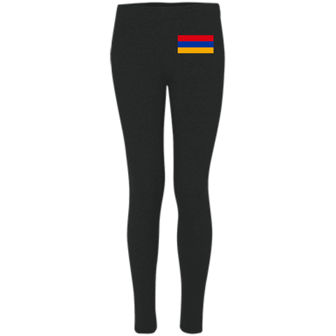 Armenian Flag Embroidered Women's Leggings - shopdiasporina.com