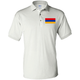 Armenian Flag Embroidered Jersey Polo Shirt - shopdiasporina.com
