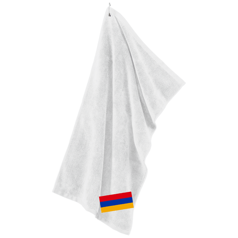 Armenian Flag Embroidered Port Authority Microfiber Golf Towel - shopdiasporina.com