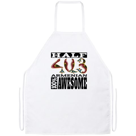 'Half Armenian - 100% Awesome' Apron - shopdiasporina.com