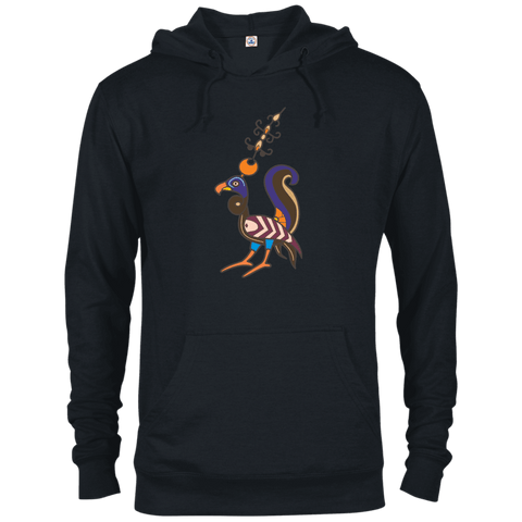 Whimsical Bird Delta French Terry Hoodie - shopdiasporina.com