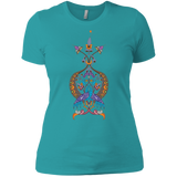 'Double Peacock Crest' Ladies' Boyfriend T-Shirt - shopdiasporina.com
