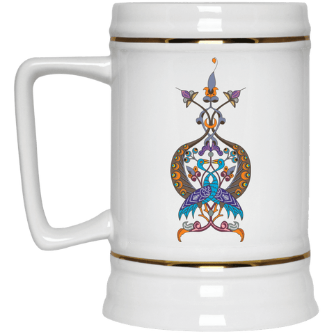 Double Peacock Crest Beer Stein 22oz. - shopdiasporina.com