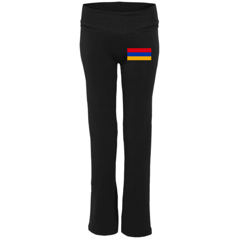 Armenian Flag Embroidered Ladies' Yoga Pants - shopdiasporina.com