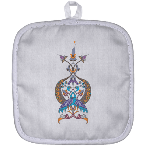 Double Peacock Crest Pot Holder - shopdiasporina.com