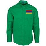 Armenian Flag Embroidered Port Authority Men's LS Dress Shirt - shopdiasporina.com