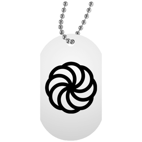 'Arevakhach' White Dog Tag - shopdiasporina.com