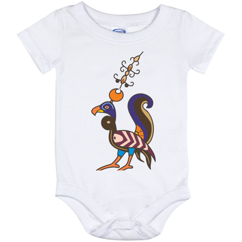 'Whimsical Bird'  Baby Onesie 12 Month - shopdiasporina.com