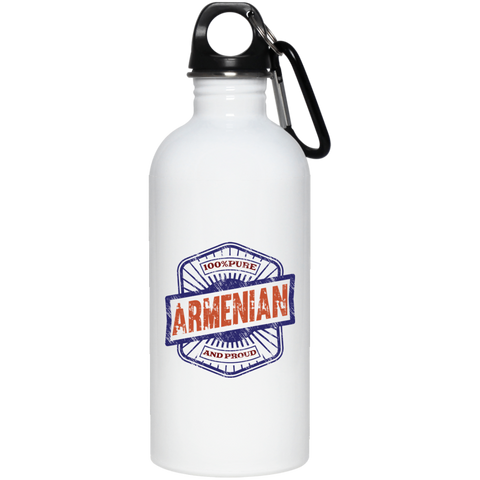 '100% Armenian' 20 oz. Stainless Steel Water Bottle - shopdiasporina.com