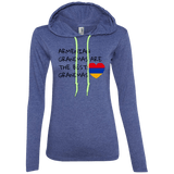 'Best Grandmas' Anvil Ladies' LS T-Shirt Hoodie - shopdiasporina.com