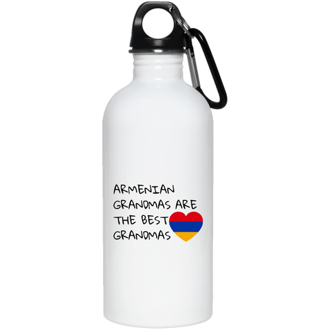 'Best Grandmas' 20 oz. Stainless Steel Water Bottle - shopdiasporina.com