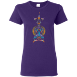 Double Peacock Crest Ladies' T-Shirt - shopdiasporina.com