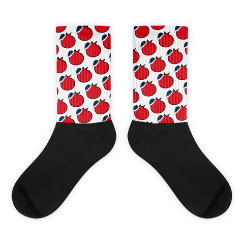 Holiday Pomegranate Socks
