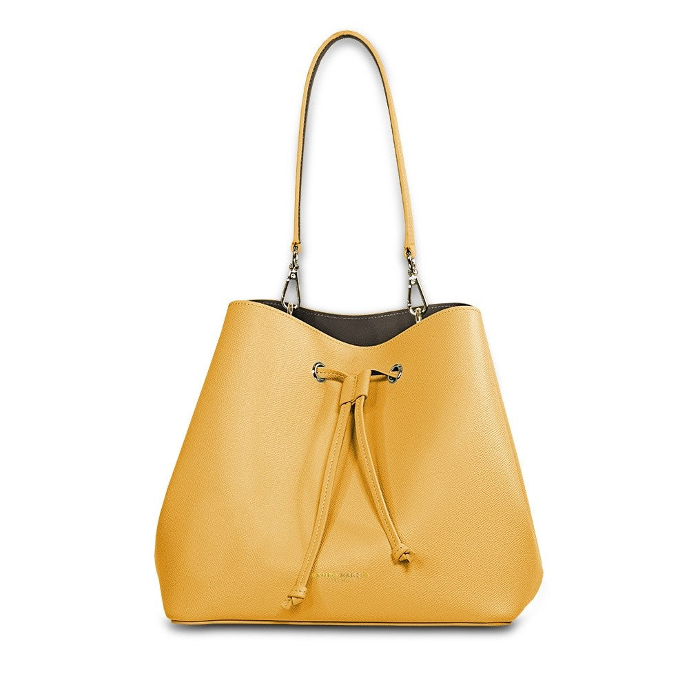 ANITA BUCKET BAG CANARY YELLOW - The HiO Life