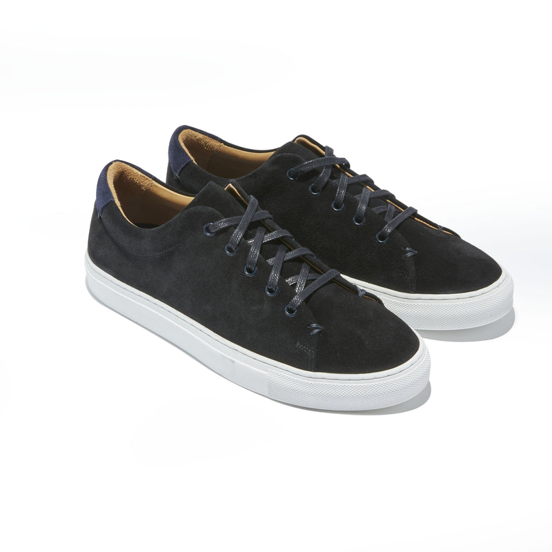 Men's Braga Sneaker in Black Suede - The HiO Life