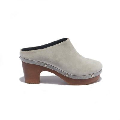 Women's Mule Clog in Grey Suede - The HiO Life