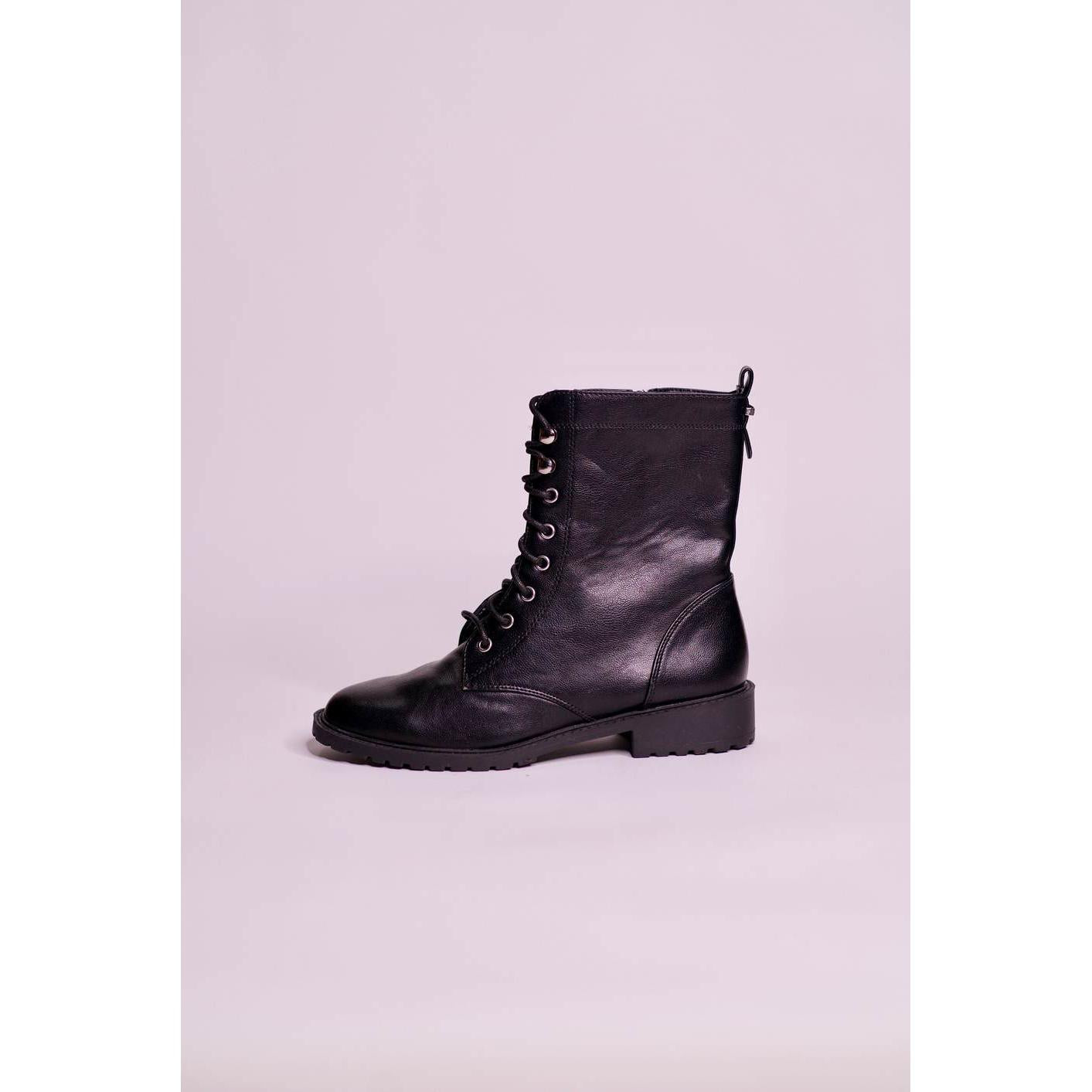 Parfois Faux Leather Combat Boots - The HiO Life