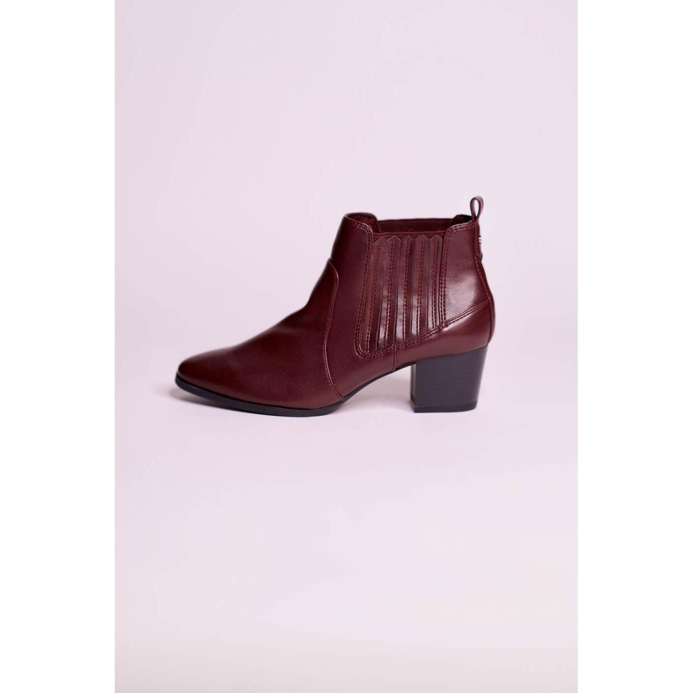 Parfois Ankle Bootie - Burgundy - The HiO Life