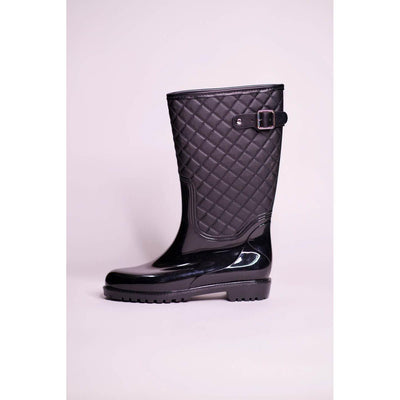 Parfois Flat Heel Boots RAINBOOT Black - The HiO Life