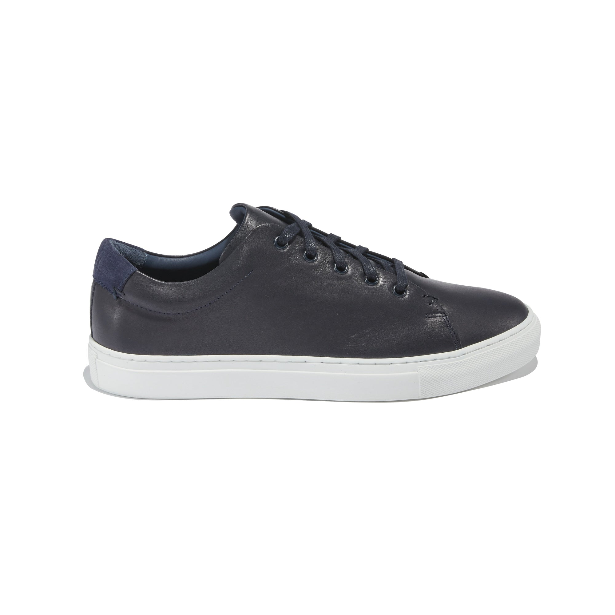 Men's Braga Sneaker in Navy Leather - The HiO Life