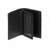 WALLET AND CREDIT CARD HOLDER LEATHER BLACK