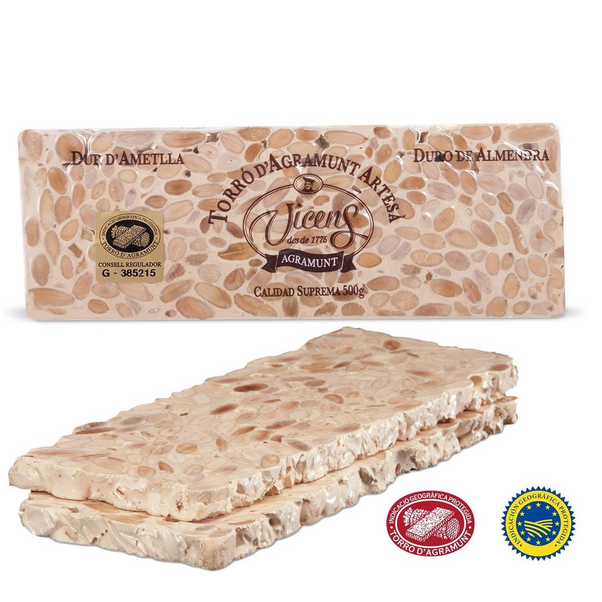 Vicens Hard Almond Nougat - Turrón Candy 200 gr. - The HiO Life